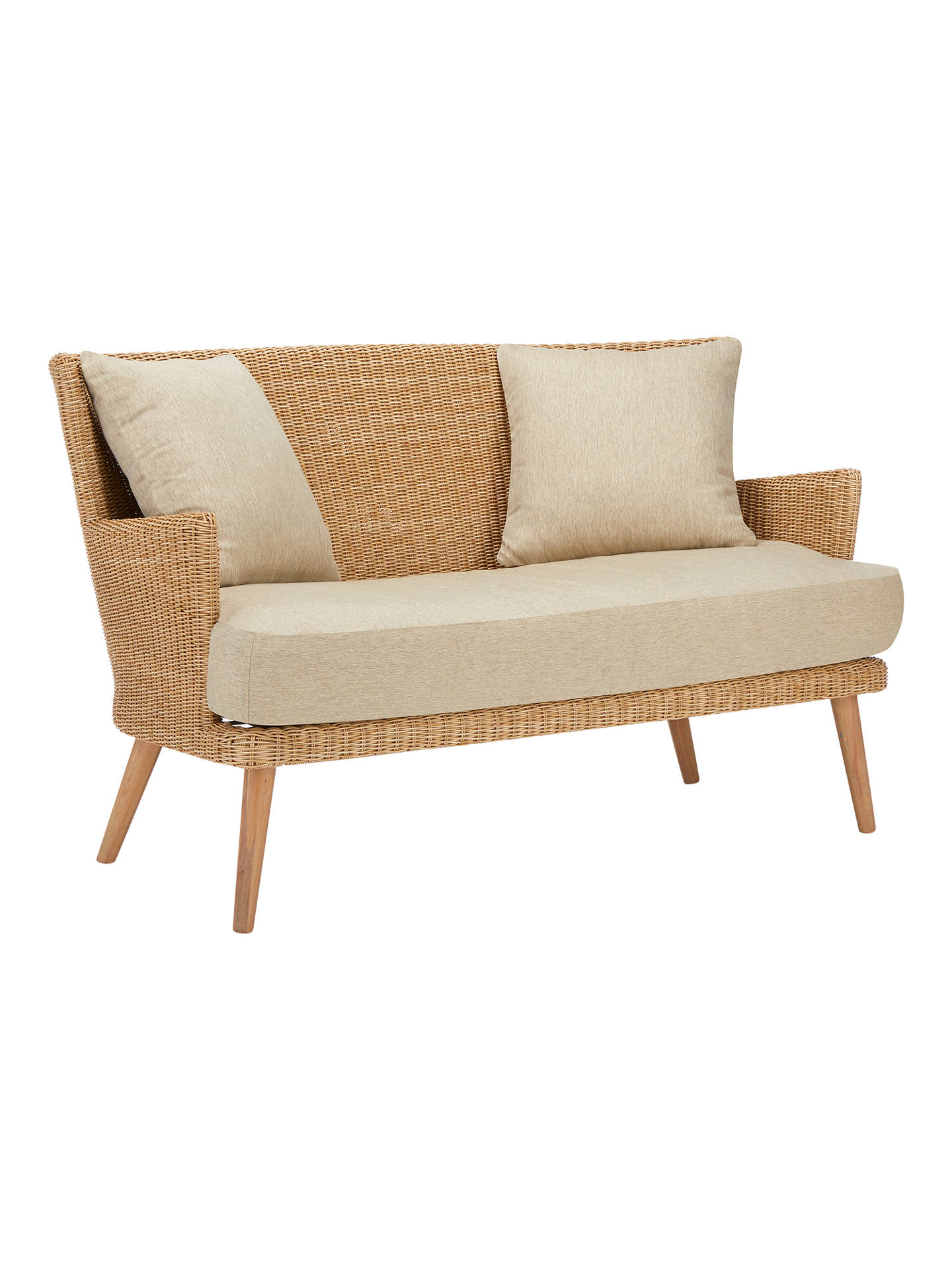 Buycroft collection iona 2 seater outdoor sofa fsc certified eucalyptus natural