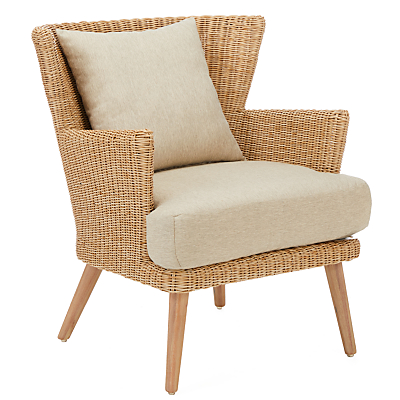 Croft Collection Iona Outdoor Dining Armchair FSC-Certified (Eucalyptus Wood), Natural