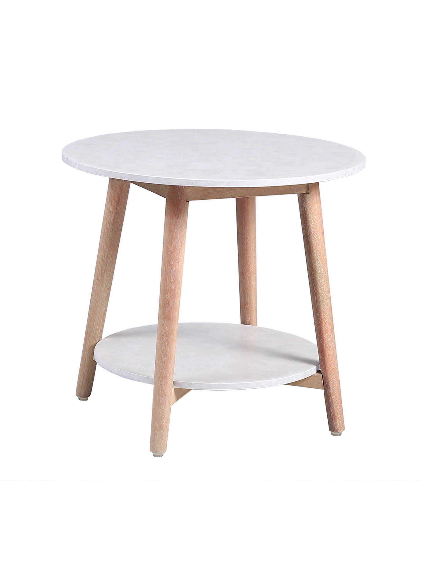 Croft Collection Iona Round Garden Side Table Fsc Certified Eucalyptus Wood Natural