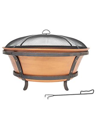 La Hacienda Westonbirt Cast Iron Firepit, Copper