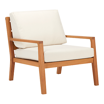 John Lewis Alta Outdoor Armchair FSC-Certified (Eucalyptus Wood), Natural