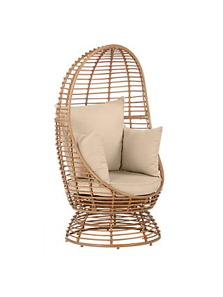 John Lewis & Partners Cabana Swivel Pod Garden Chair