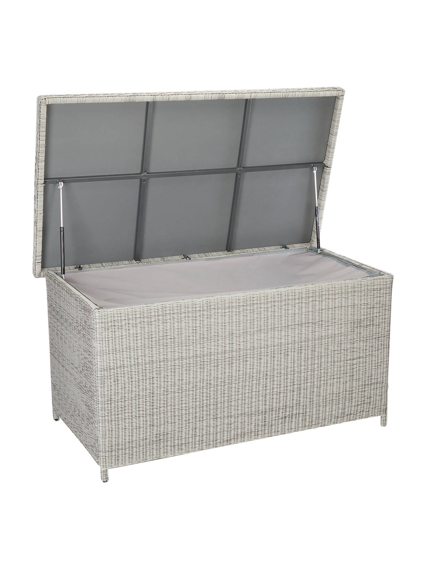 Tremendous John Lewis Partners Dante Garden Cushion And Storage Box Grey Inzonedesignstudio Interior Chair Design Inzonedesignstudiocom