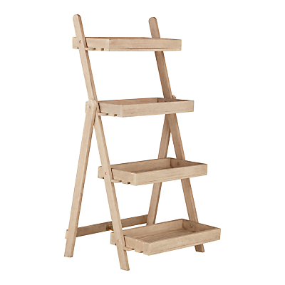 John Lewis Eden 4-Step Outdoor Plant Ladder, FSC-Certified (Eucalyptus), Natural