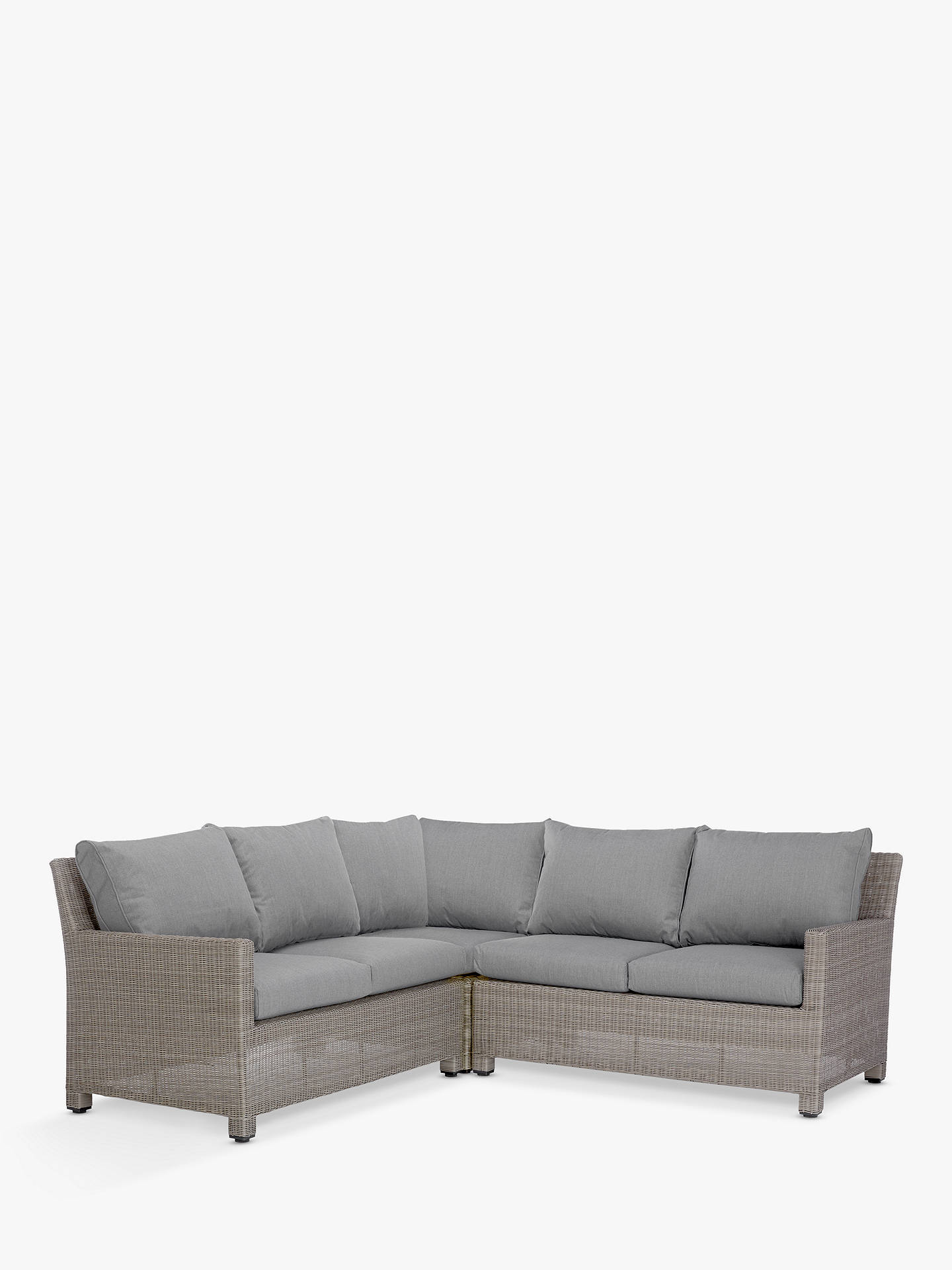John Lewis Partners Dante Garden Modular 4 Seater Corner Lounging Sofa Grey Online At