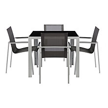 Buy House by John Lewis Manhattan 4 Seater Outdoor Dining Table & Chairs Set Online at johnlewis.com