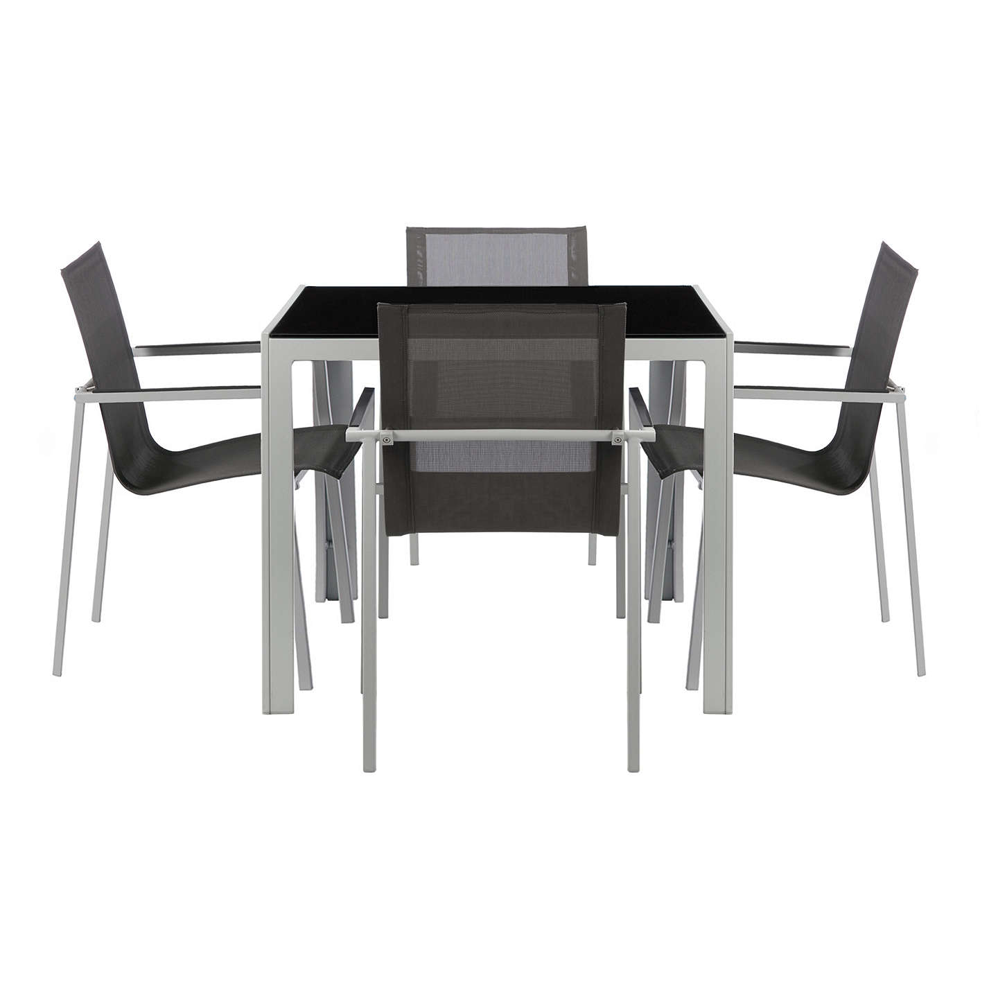 BuyHouse By John Lewis Manhattan 4 Seater Outdoor Dining Table Chairs Set Grey