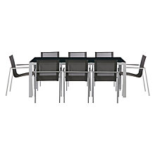 Buy House by John Lewis Manhattan 8 Seater Outdoor Dining Table & Chairs Set Online at johnlewis.com