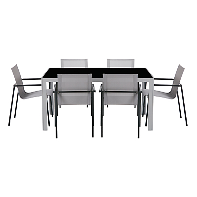 House by John Lewis Manhattan 6 Seater Outdoor Dining Table & Chairs Set
