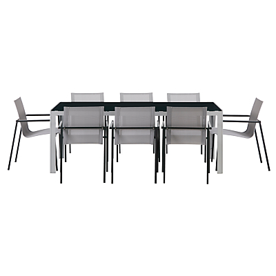 House by John Lewis Manhattan 8 Seater Outdoor Dining Table & Chairs Set
