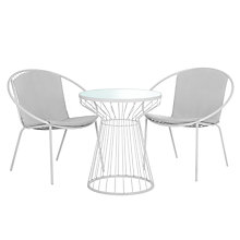 Buy House by John Lewis Porto Bistro Outdoor Table and Chairs Set Online at johnlewis.com