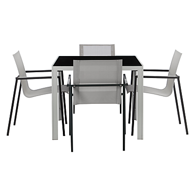 House by John Lewis Manhattan 4 Seater Outdoor Dining Table & Chairs Set