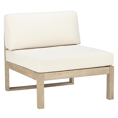 John Lewis & Partners St Ives Single Modular Garden Lounge Chair, FSC-certified (Eucalyptus Wood), Natural