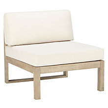 Buy John Lewis St Ives Outdoor Single Modular Lounge Chair, FSC-certified (Eucalyptus Wood), Natural Online at johnlewis.com