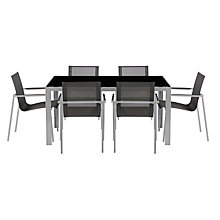 Buy House by John Lewis Manhattan 6 Seater Outdoor Dining Table & Chairs Set Online at johnlewis.com