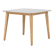 Buy John Lewis Leia 4 Seater Square Outdoor Dining Table, FSC-Certified (Eucalyptus Wood), Grey/Natural Online at johnlewis.com