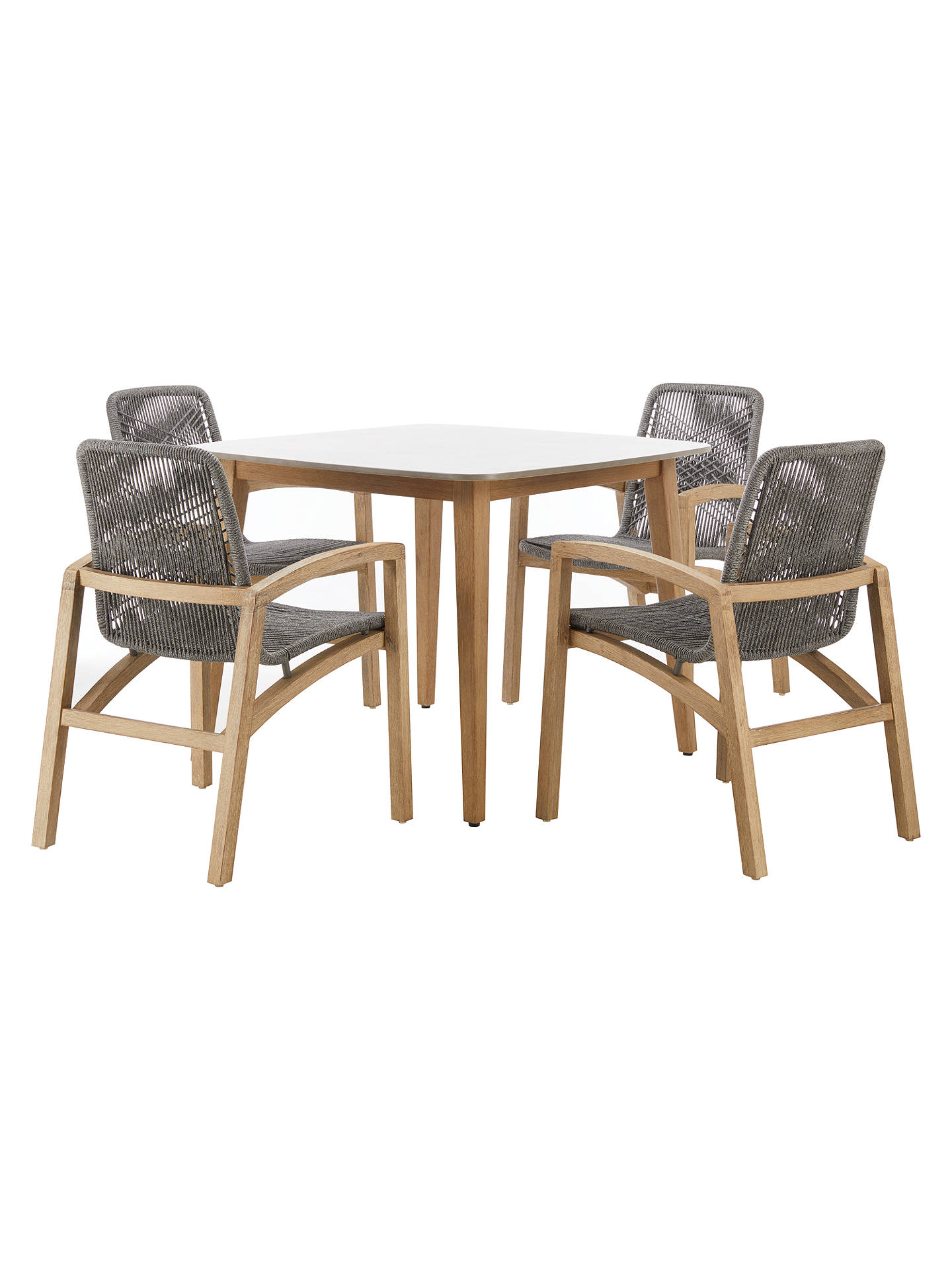 John Lewis Partners Leia 4 Seater Square Outdoor Dining Table Fsc