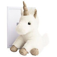 Buy Doudou et Compagnie Glitter Unicorn Plush Toy, Gold, Small Online at johnlewis.com