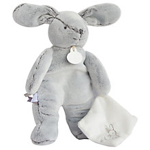Buy Doudou et Compagnie Rabbit Plush with Comforter Online at johnlewis.com