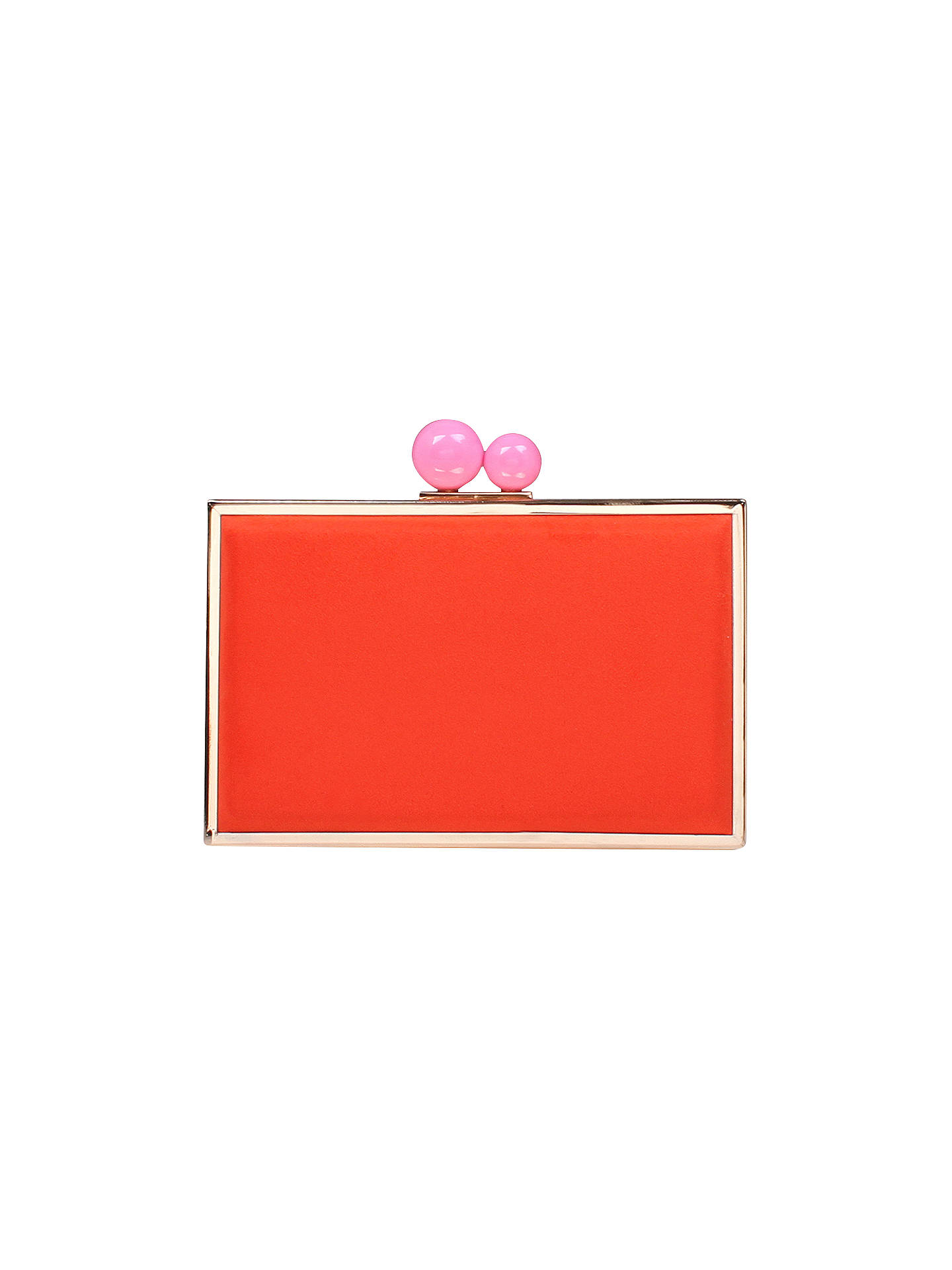 Buy Carvela Glady Box Clutch Bag, Red Online at johnlewis.com