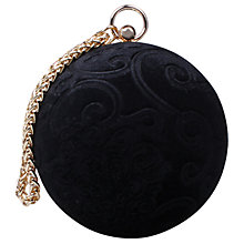 Buy Carvela Guide Circular Clutch Bag, Black Online at johnlewis.com