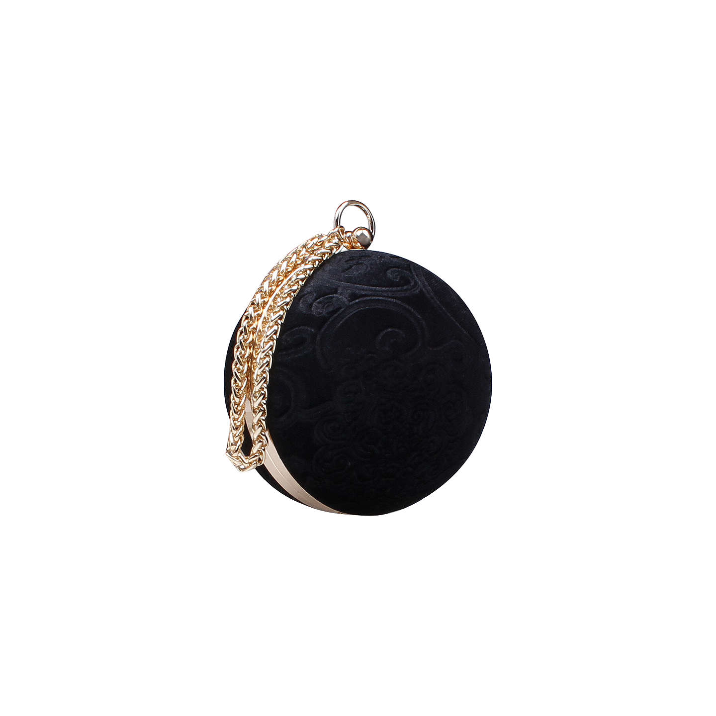 BuyCarvela Guide Circular Clutch Bag, Black Online at johnlewis.com