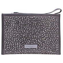 Buy Carvela Genna Pouch Satin Clutch Bag, Grey Online at johnlewis.com