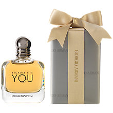 Buy Emporio Armani Because It's You For Her Eau de Parfum Gift Wrap, 100ml Online at johnlewis.com
