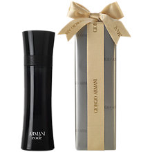 Buy Giorgio Armani Armani Code Eau de Toilette Gift Wrap, 125ml Online at johnlewis.com