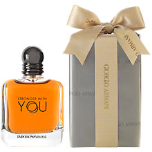 Buy Emporio Armani Stronger With You For Men Eau de Toilette Gift Wrap, 100ml Online at johnlewis.com