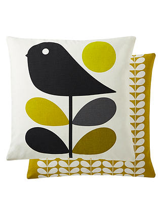Buy Orla Kiely Early Bird Cushion, Yellow, 45 x 45cm Online at johnlewis.com