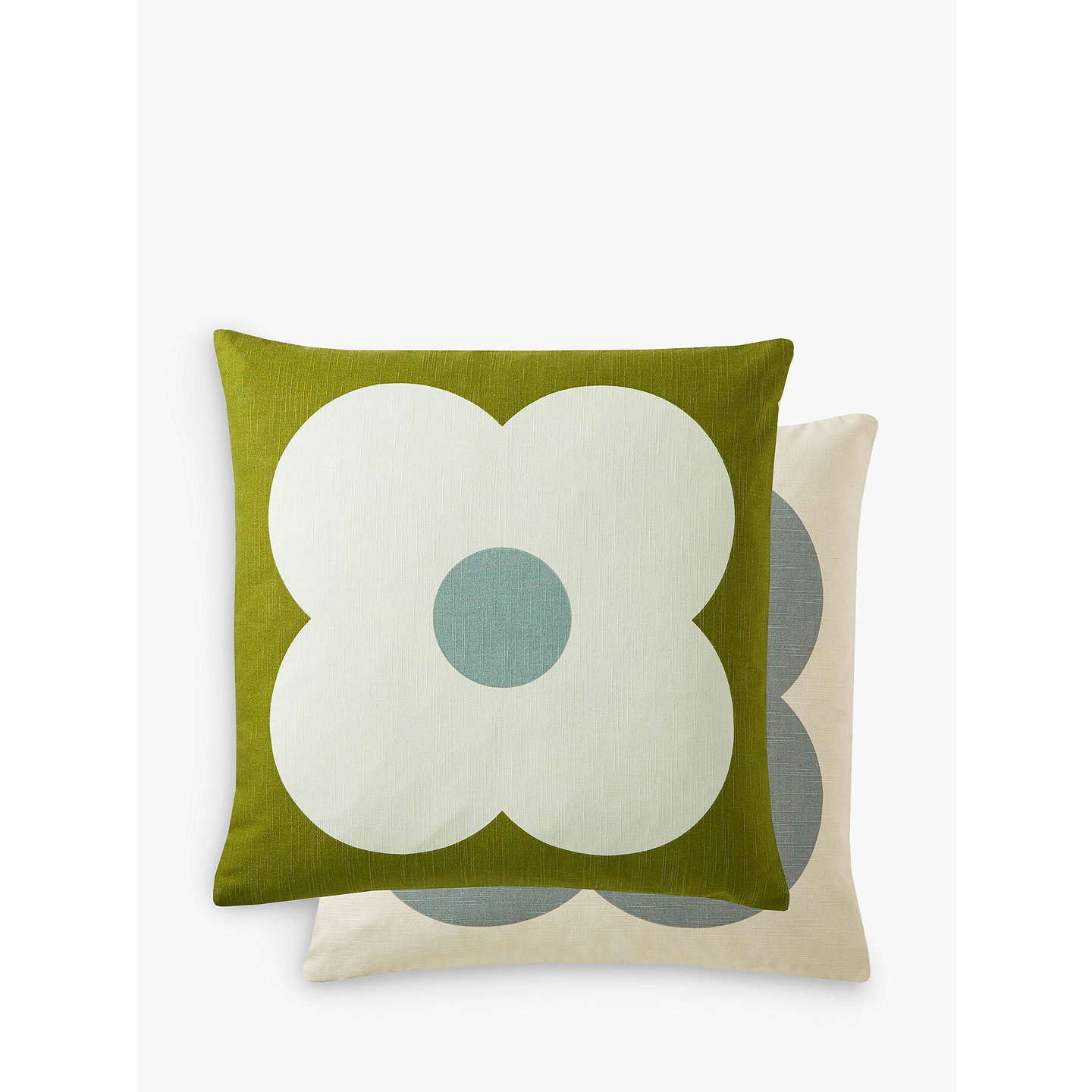 BuyOrla Kiely Giant Abacus Flower Cushion, Apple Online at johnlewis.com