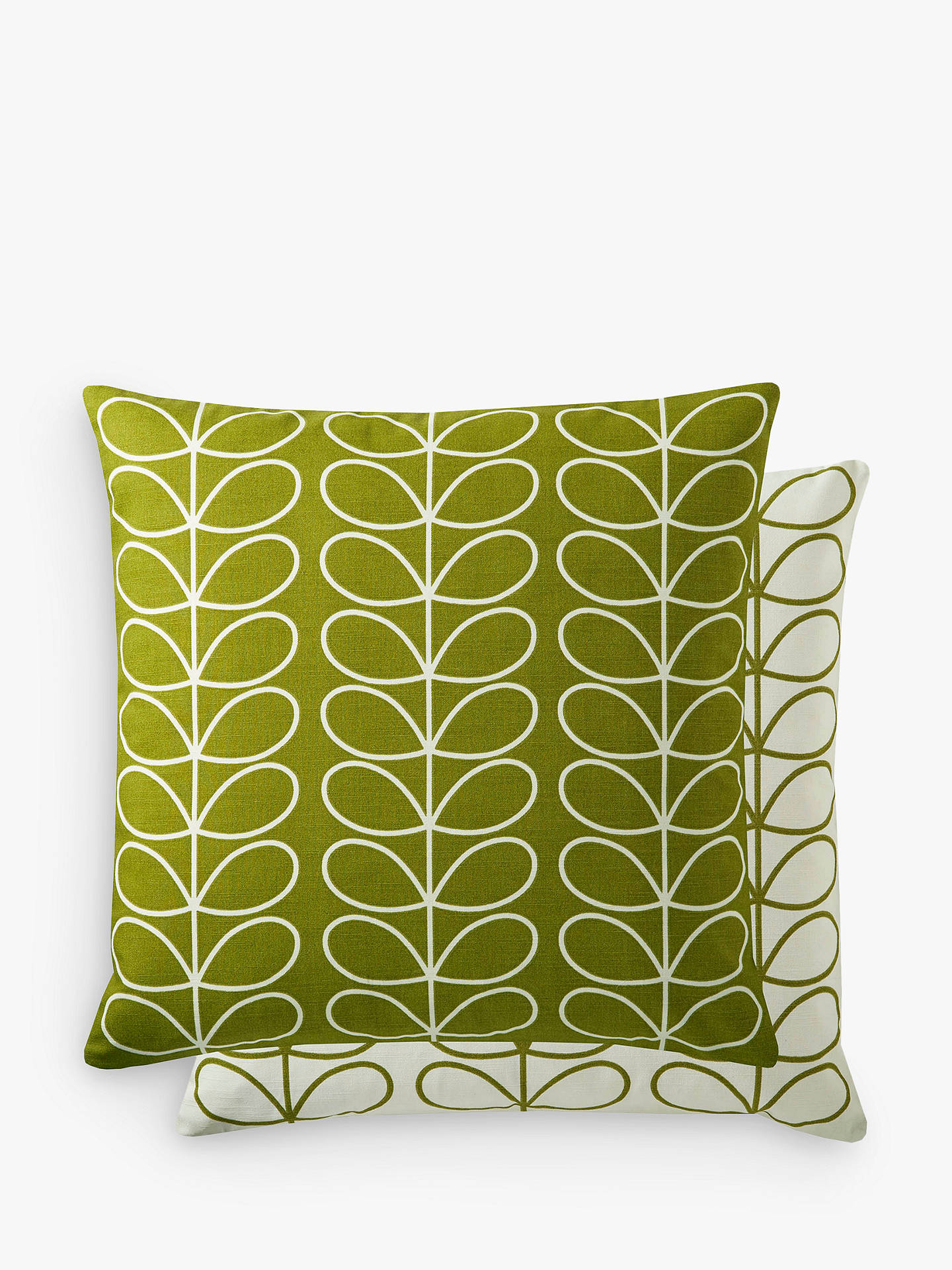 BuyOrla Kiely Linear Stem Cushion, Apple Online at johnlewis.com