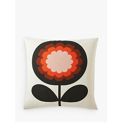 Orla Kiely '70s Frilly Flower Cushion, Persimmon