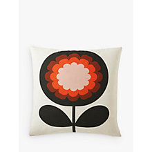 Buy Orla Kiely '70s Frilly Flower Cushion, Persimmon Online at johnlewis.com