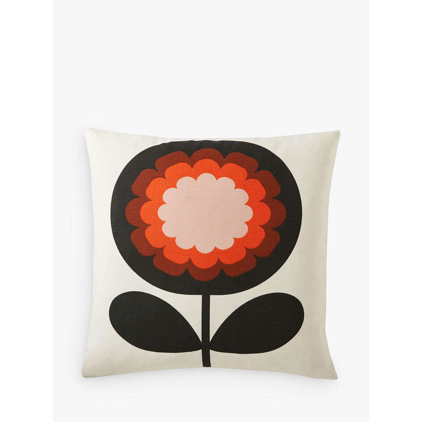 Orla Kiely 70s Frilly Flower Cushion Persimmon At Johnlewis