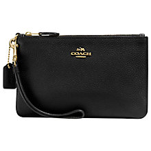 Buy Coach Leather Wristlet Purse Online at johnlewis.com