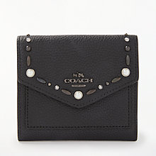 Buy Coach Leather Small Purse, Black Online at johnlewis.com