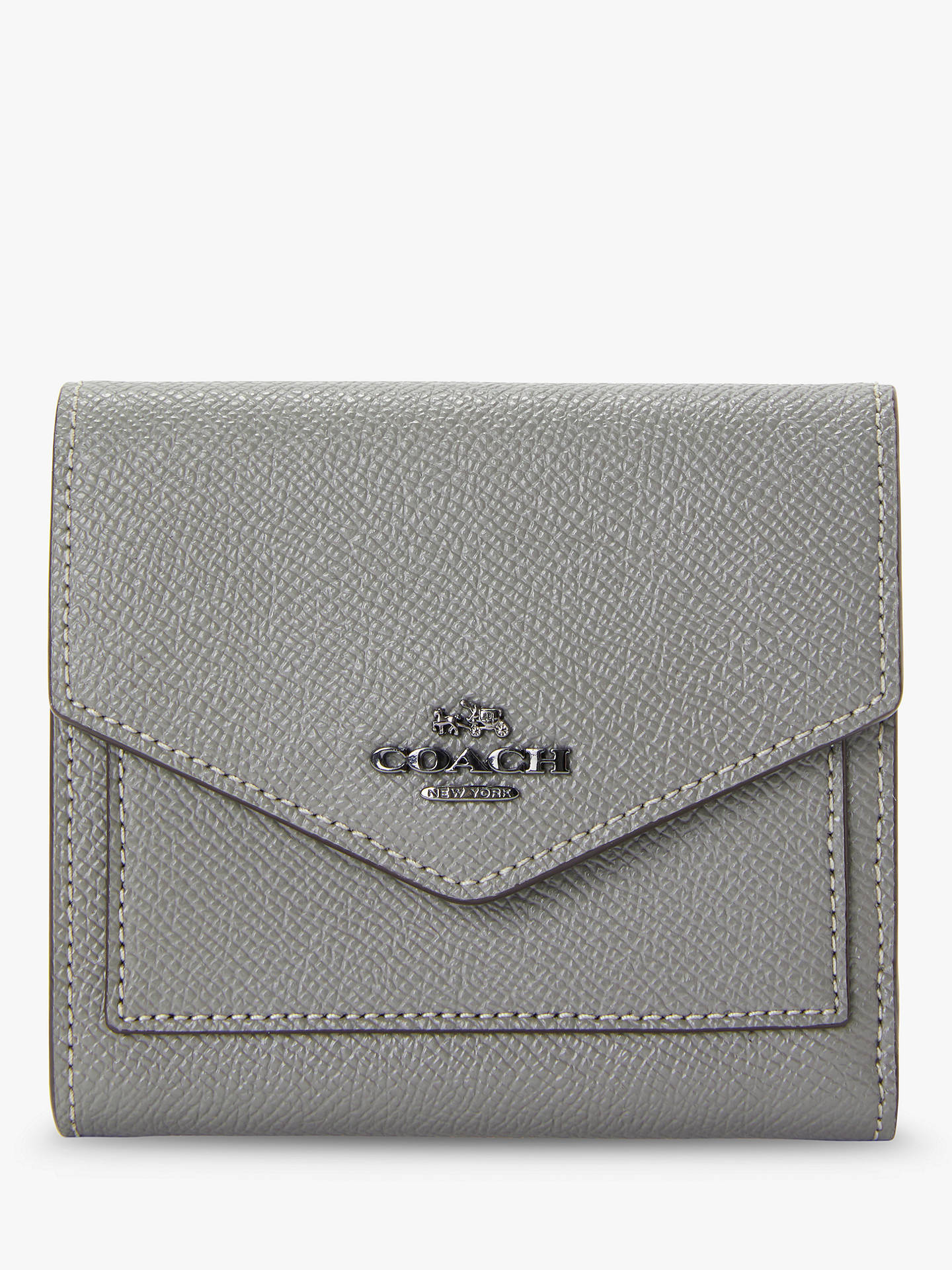 Buy Coach Small Leather Purse, Heather Grey Online at johnlewis.com