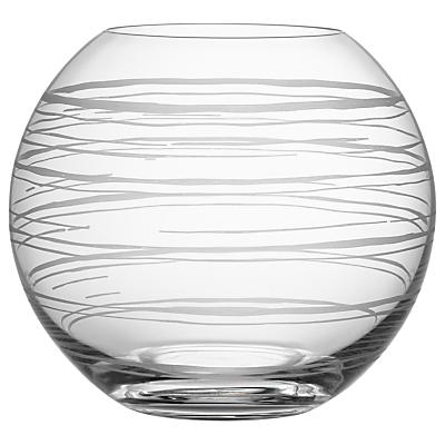 Orrefors Graphic Glass Globe Vase, Clear, 17.2cm