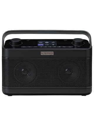 Buy ROBERTS Stream 218 DAB+/FM/Internet Smart Radio with Bluetooth & Spotify Connect, Black Online at johnlewis.com