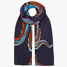Buy Paul Smith Octopus Scarf, Navy Online at johnlewis.com