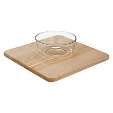 Buy John Lewis Glass Dip Bowl and Ash Wood Serving Platter, Natural/Clear Online at johnlewis.com