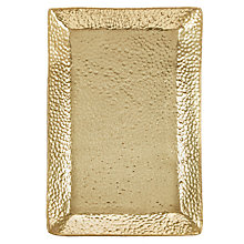 Buy John Lewis Fusion Hammered Metal Tray, Gold, L30cm Online at johnlewis.com