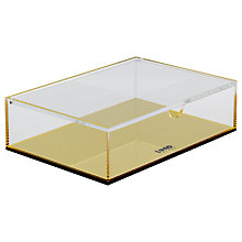 Buy Lund London Flash Medium Box, Gold Online at johnlewis.com