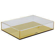 Buy Lund London Flash Large Box, Gold Online at johnlewis.com