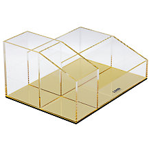 Buy Lund London Flash Desk Tidy, Gold Online at johnlewis.com