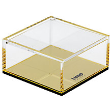 Buy Lund London Flash Lidded Box, Gold Online at johnlewis.com