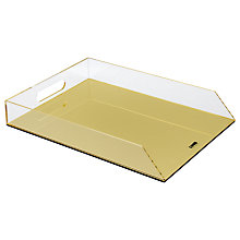Buy Lund London Flash Filing Tray, Gold Online at johnlewis.com