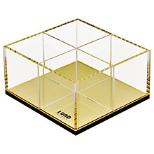 Buy Lund London Flash Organiser, Gold Online at johnlewis.com